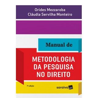 Livro - Manual de Metodologia da Pesquisa No Direito - Mezzaroba