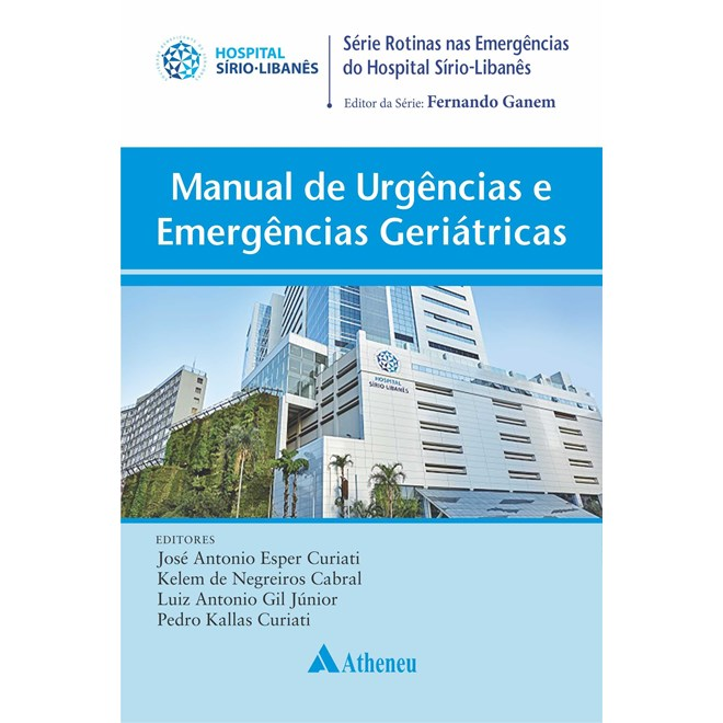 Livro - Manual de Urgências e Emergências Geriátricas -  Hospital Sírio Libanês - Atheneu