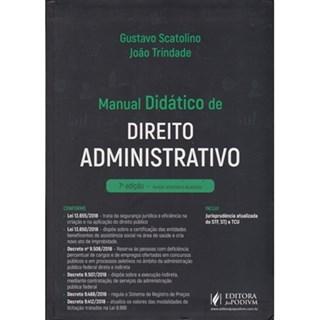 Livro -  Manual Didático De Direito Administrativo - Scatolino