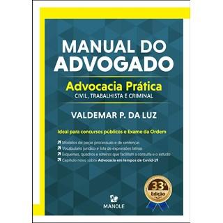 Livro Manual do Advogado - Luz - Manole