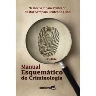 Livro Manual Esquemático de Criminologia - Penteado - Saraiva