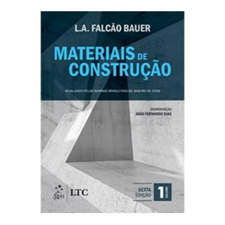 Livro - Materiais de Construção Vol. 1 - Bauer