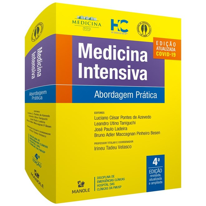 Livro Medicina Intensiva: Abordagem Prática - USP - 4ª. Edição 2020