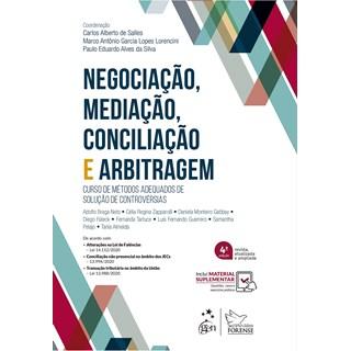 Livro Negociação, Mediação, Conciliação e Arbitragem - Salles - Forense