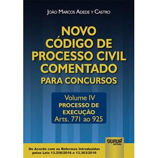 Livro - Novo Código de Processo Civil Comentado para Concursos - Castro - Juruá