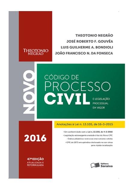 Livro - Novov Código de Processo Civil e Legislação Processual em Vigor - Negrão