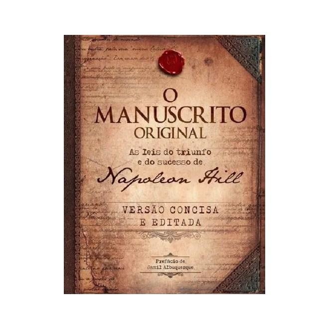 Livro O Manuscrito Original Hill Livraria Florence