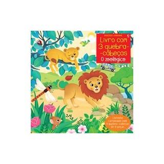 Livro - O zoológico: livro com 3 quebra-cabeças - Taplin 1º edição