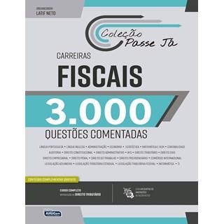 Livro Passe Já 3000 Questões Comentadas - Carreiras Fiscais 2021 - Alfacon
