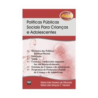 Livro - Políticas Públicas Sociais para Crianças e Adolescentes - Miranda