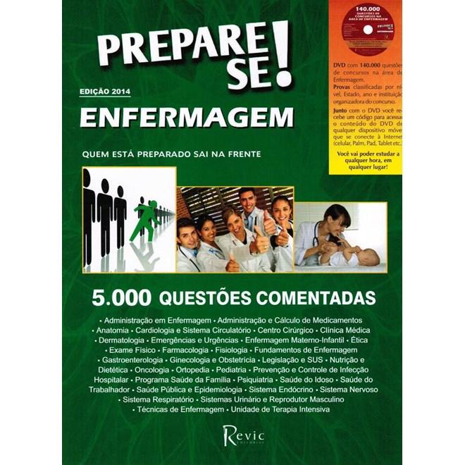 Livro - Prepare-se Enfermagem 2014 - 5000 Questões de Enfermagem Comentadas