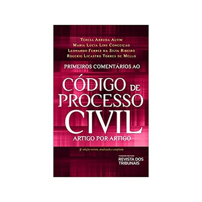 Livro - Primeiros Comentários Ao Código De Processo Civil - Alvim - Revista dos Tribunais