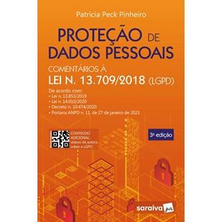 Livro Proteção de Dados Pessoais 3º Edição - Pinheiro - Saraiva