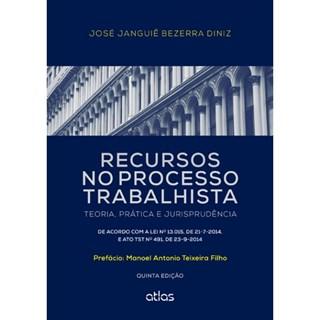 Livro - Recursos no Processo Trabalhista: Teoria, Prática e Jurisprudência - Diniz
