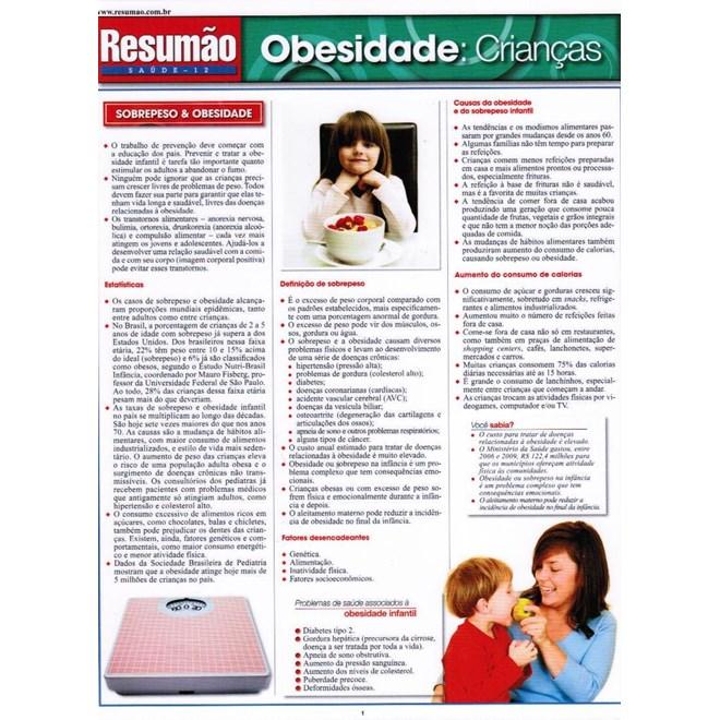 Livro - Resumão Obesidade : Criança