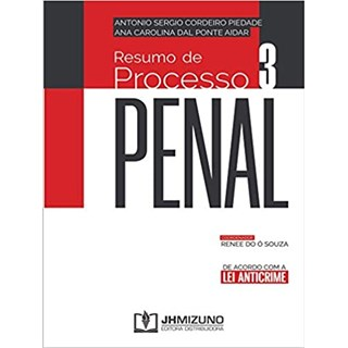 Livro - Resumo de Processo Penal Vol 3 - Piedade - Jh Mizuno