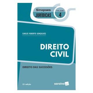 Livro - Sinopses - Direito Civil - Direito Das Sucessões - Volume 4 - 21ª Edição 2020 - Gonçalves 21