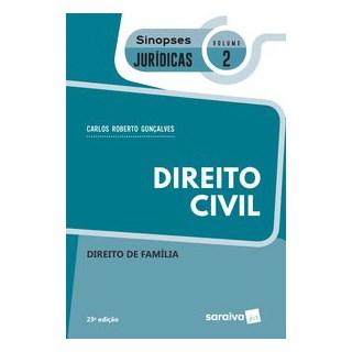 Livro - Sinopses - Direito Civil - Direito de Família - Volume 2 - 23ª Edição 2020 - Gonçalves 23º e