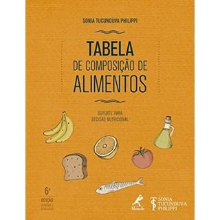 Livro Tabela de composição de alimentos - Philippi - Manole