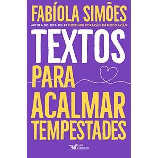 Livro Textos para acalmar tempestades - Simões - Faro