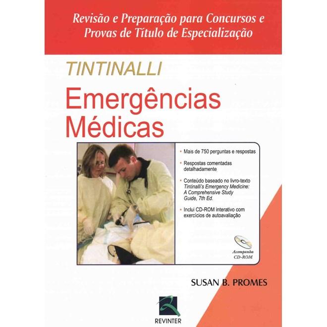 Livro Tintinalli Emergências Médicas - Revisão e Preparação para Concursos e Provas de Titulo de Especialização - Promes - Revinter