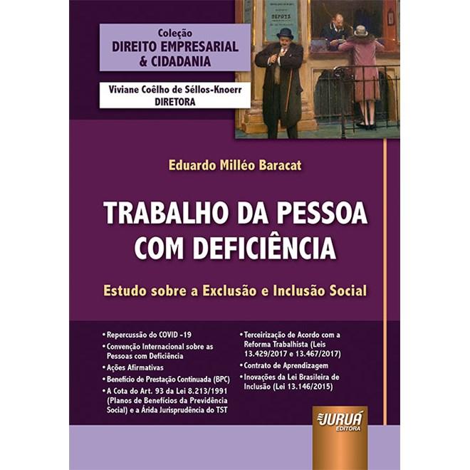 Livro Trabalho da Pessoa com Deficiência - Baracat - Juruá