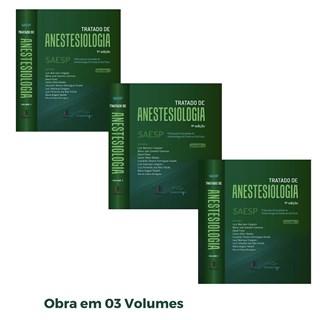 Livro Tratado de Anestesiologia 9 Ed 2021 - 3 Vol - SAESP