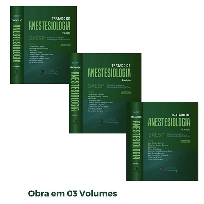 Livro Tratado de Anestesiologia 9 Ed 2021 - 3 Vol - SAESP - Pré-Venda