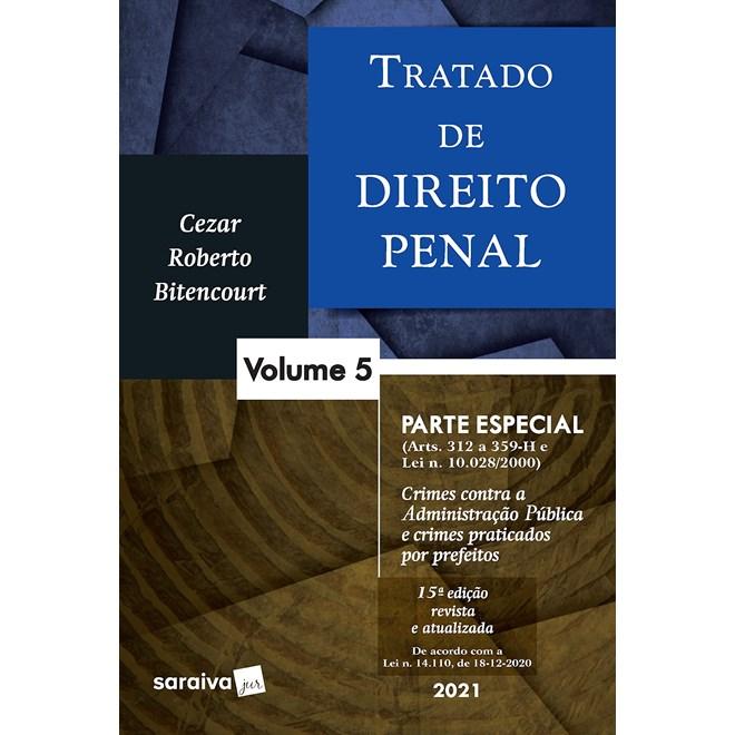 Livro - Tratado de Direito Penal - Vol. 5 - 14ª edição de 2020 - Bitencourt 14º edição