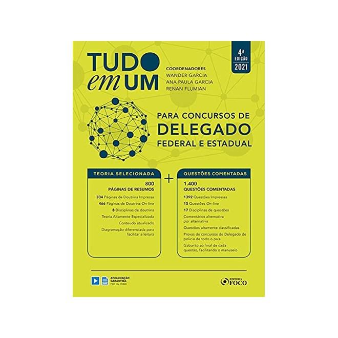 Livro Tudo em um Para Concursos de Delegado: Federal e Estadual - 4ª Edição - Foco