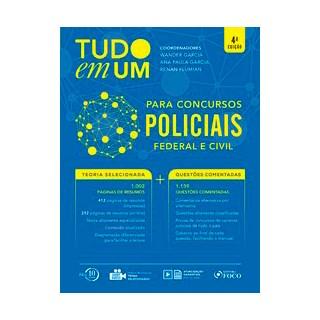 Livro - Tudo em um: Para concursos policiais - 4ª edição - 2018 - Matuda 4º edição