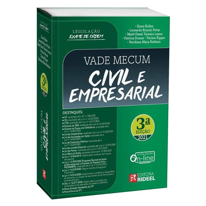 Livro - Vade Mecum Civil E Empresarial - Legislação Exame De Ordem