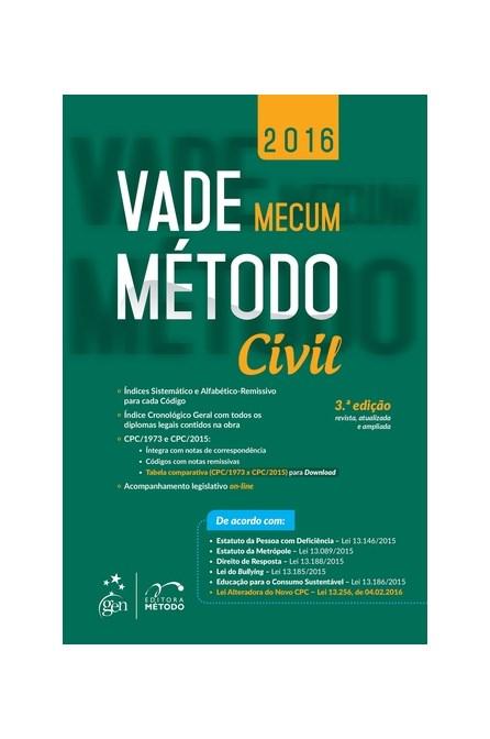 Livro - Vade Mecum - Civil - Método