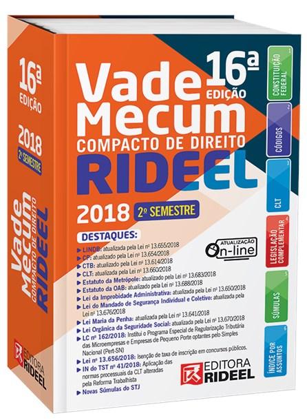 Livro - Vade Mecum Compacto de Direito - 2º Semestre  - 2018