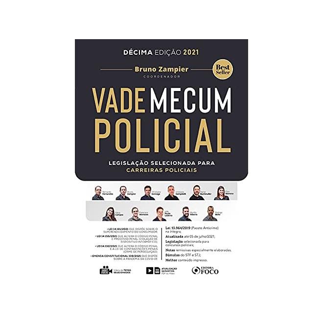 Livro Vade Mecum Policial: Legislação Selecionada para Carreiras Policiais - Foco - Pré-Venda