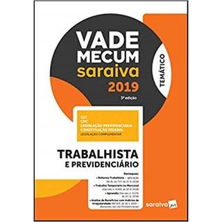 Livro - Vade Mecum Saraiva 2019 - Trabalhista e Previdenciário