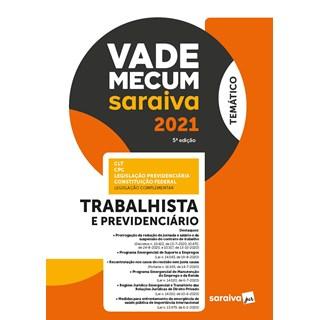Livro - Vade Mecum Trabalhista - Temático - 4ª edição de 2020 - Editora Saraiva 4º edição