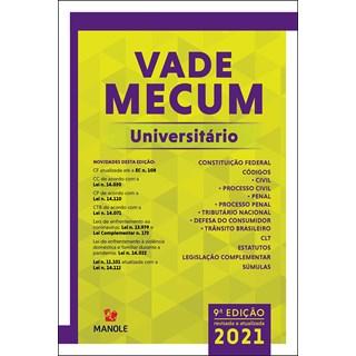 Livro Vade Mecum Universitário 2021 - Manole