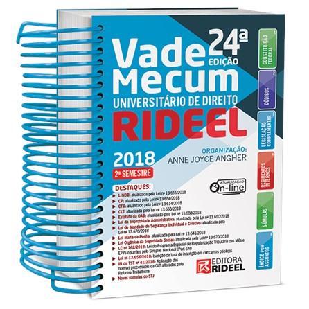 Livro - Vade Mecum Universitário de Direito - 2º Semestre 2018 - Angher