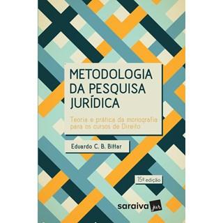 METODOLOGIA DA PESQUISA JURIDICA - SARAIVA - 15 ED